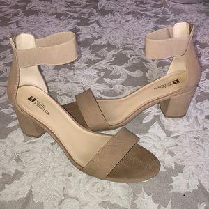 White mountain heeled sandal